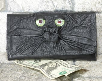Wallet Zippered Slim Woman Black Leather Clutch Credit Card Holder Monster Harry Potter Labyrinth 229