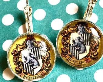 Hufflepuff Harry Potter cabochon earrings- 16mm