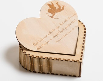 Wooden Heart Box - Mother's Day Gift
