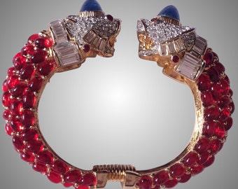 Kenneth Lane fantastic Fish double cuff bracelet