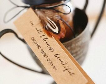 Organic Sweet Dukkah   Wedding Gift   Hostess Gift   Placecard  