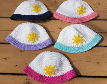 Crocheted Cotton Baby Boy Girl Sun Hat Baby Shower Gift