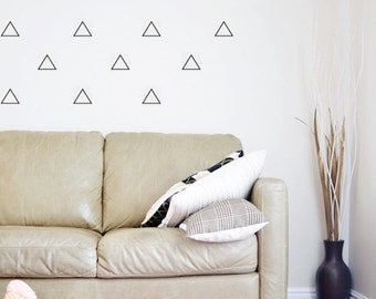 Triangle Wall Decal/ Nursery Decor/ Triangle Decor Decals/ Modern Monochrome Nursery Decor/ Triangle Vinyl Decal/ Triangle/ FREE SHIPPING