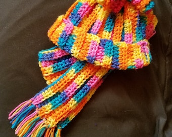 Fun hat and scarf