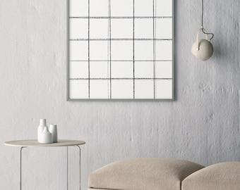 Collection 2- Simple Plaid- Modern Art Print