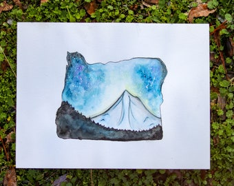 "9""x12"" Dreamy Mt.Hood, OR"