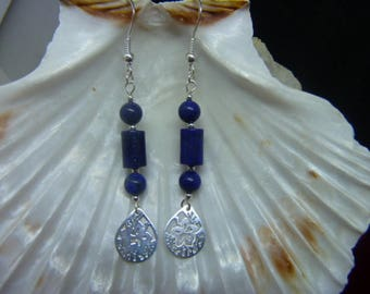 Genuine LAPIS LAZULI earrings