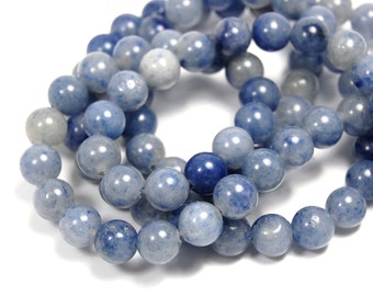 "Two 15.5"" strands Blue Aventurine Beads 6mm"
