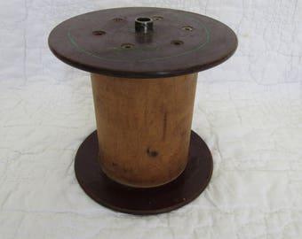 Vintage Large Wood Thread / Twine Spool Industrial