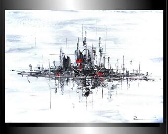 "City Zenic New York Skyline Village - painting 31,5 x 39,37 x 1,57"""