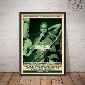 John Coltrane Poster - Quote Retro Music Poster - Music Print, Wall Art