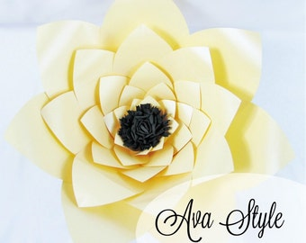 Printable Giant Flower Templates, DIY Large Paper Flowers, DIY Wedding Decor, Reception Decor, Bridal shower, Baby Shower