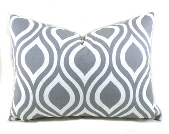 Lumbar Pillow Cover ANY SIZE Decorative Pillow Cover Grey Pillow Premier Prints Nicole Grey