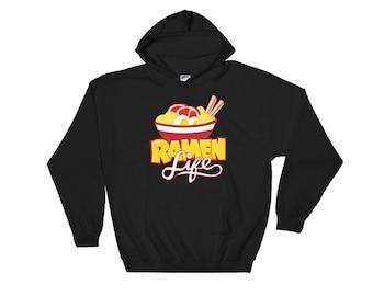 Ramen Life Hooded Sweatshirt // Ramen Lover Sweatshirt // Hot Ramen Sweater // Perfect Gift Hooded Sweatshirt