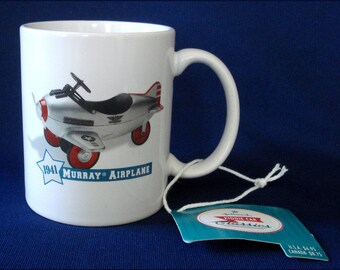 1941 Murray Airplane Coffee Mug - Unused with Tags - Hallmark Kiddie Car Classics