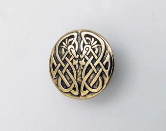 Celtic Scrollwork Birds Button - B521