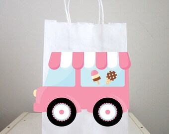 Ice Cream Party Bags, Ice Cream Truck Goody Bags