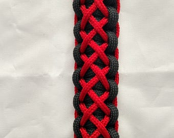 Black with Red Garter Stitching