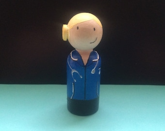 Nurse peg doll / cake topper / miniature