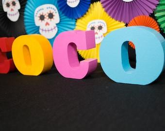 Coco, foam letter, coco birthday, Coco theme, coco theme birthday, coco disney