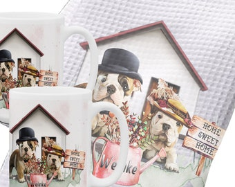 Personalized Bulldogs Housewarming Gift | Housewarming Gift First Home | New home Gift | Housewarming Party | Dog Lover Housewarming Gift