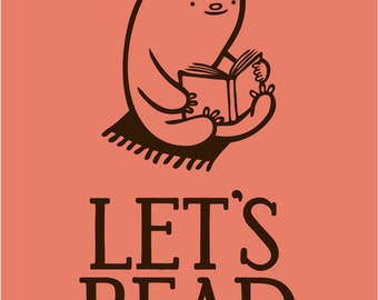 "Let's Read, 8.5"" by 11"" Archival Print"