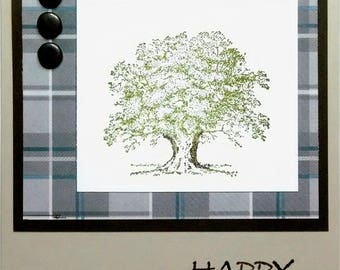 Handmade Birthday Card, Masculine Birthday Card, Stampin Up Card, Oak Tree, Guy Card, Card For Him, Greeting Card