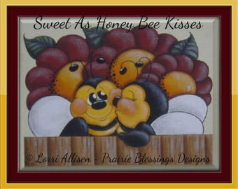 Sweet As Honey Bee Kisses summer painting pattern packet instant download