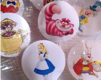 Alice in Wonderland Lollipop Favors - Alice in Wonderland Lollipops - Alice in Wonderland Favors