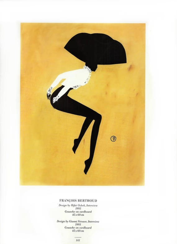 Fashion Wall Art Print Illustration Francois Berthoud Chic