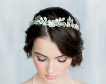 Silver Leaf Crown, Gold Leaf Headband, Gold Flower Crown, Laurel Leaf Headpiece, Silver Hairband, Modern Crown, Gold Leaf Crown Tiara HELENA
