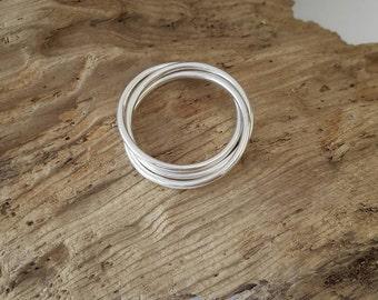 Handmade 925 Sterling Silver triple Entwined Ring - fiddle, fidget ring