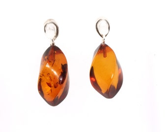 Baltic Amber Twisted Pendant Cognac
