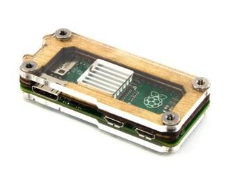 Zebra Zero Case for Raspberry Pi Zero W - Wood with Heatsink