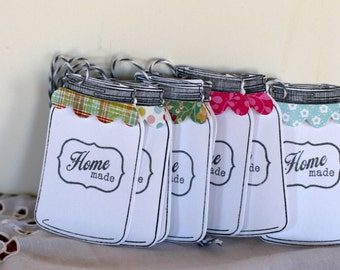 Home made from the kitchen tags, jar of jam tags, Mason jar tag, garden canning tags, Jar tags, canning jar tags, garden labels