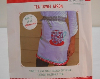Crafternoon Hazel & Ruby Tea Towel Apron 13 Piece Sewing Kit New In Package Free Shipping