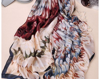 Pure silk scarf Wings perfect gift