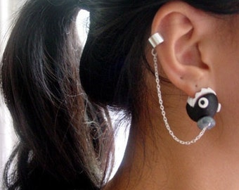 Original Super Mario Chain Chomper Ear Cuff