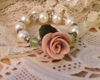 Rose Beaded Rings