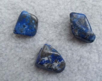 Lapis Lazuli Set of 4 Tumbled Crystals Stones Minerals