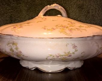Vintage Maddocks Works Lamberton Royal Porcelain Serving Dish with Lid