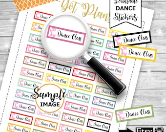 Dance Class Planner Stickers, Printable Stickers, Dance Stickers, Functional Stickers