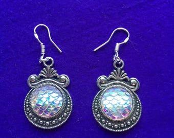 Mermaid earrings - mermaid scales earrings
