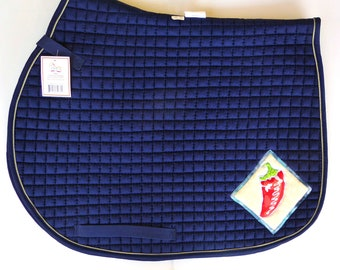 All Purpose Saddle Pad in Navy for Eventing and Jumping Saddles HA-84