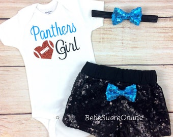 Carolina Panthers Baby Girl Game Day Outfit