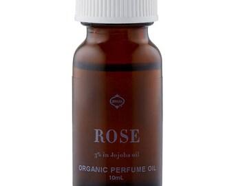 ORGANIC ROSE otto PERFUME oil 3% in Jojoba 10ml