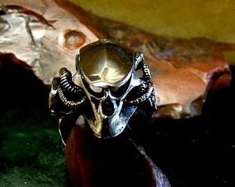 Predator Ring Solid Sterling Silver Free Domestic Shipping