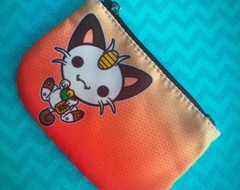 Meowth Maneki Neko - Pokemon Zipper Coin Purse