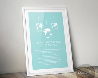 The Hitchhiker's Guide to the Galaxy poster (Made to order)
