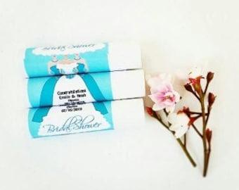 Set of 12 Bridal Shower wedding chapstick Favor, Personalized Lip balm favor, wedding reception favor, Bachelorette favor